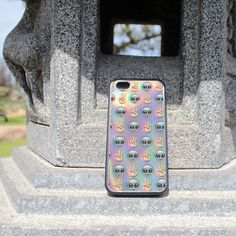 iPhone Case Psychedelic Alien Emoji Pattern For iPhone 4, iPhone 5, iPhone 5c, or iPhone 6 in Plastic*, Rubber or Heavy Duty