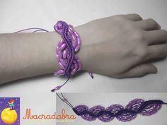 #Macrame Pulsera Violeta