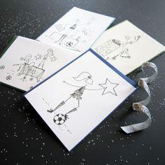 Soccer Star Stationery, Set of 8 Blank Notecards- LOinLONDON® fine paper goods + whimsical design | www.loinlondon.com