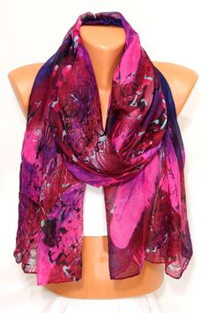 Hey, I found this really awesome Etsy listing at https://www.etsy.com/listing/212642705/new-feather-print-fuchsia-wine-blue