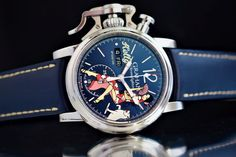 """TimeZone : Industry News » N E W M o d e l - Graham Chronofighter Vintage Nose Art """"Kelly"""""""