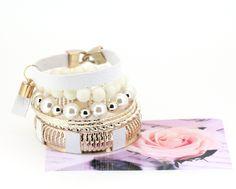 Europe and America Style Fashionista Series Imitation Leather Pendant Multi Level Charming White Bracelets for Girls
