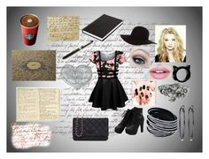 """""""Writing at Starbucks"""" by liviahopper-1 on Polyvore featuring American Apparel, Fiebiger, NOVICA, White House Black Market, Chanel and Moleskine"""
