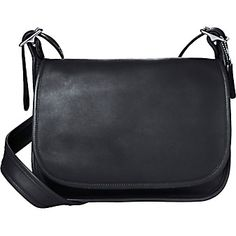 """Coach Patricia Legacy Bag - Black/Nickel Hardware in Diann's Garage Sale in Waynesboro , GA for $50.00. PATRICIA LEGACY BAG   Front pocket under flap  Inside back open compartment  Inside pocket  Zip-top closure under flap  Glove tanned leather  50"""" adjustable strap  11 1/2 (L) x 10 1/2 (H) x 4 3/8 (W)   Purchase Price: 298"""