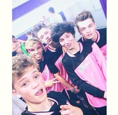 Jordi,Ryan and Andy with Harvey and Charlie from Bars And Melody at soccer six