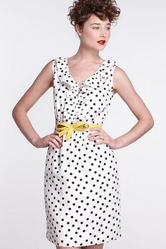 Well, obviously. Hi There From Keren Walker: Polka-Dotted Dress - Anthropologie.com
