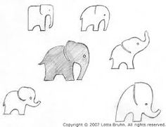 simple baby elephant outline - Google Search