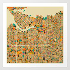 VANCOUVER Art Print by Jazzberry Blue - $19.00