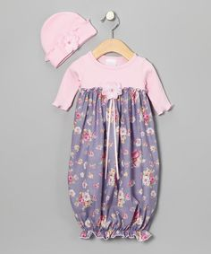 Take a look at this Rose & Lavender Floral Gown & Beanie by Welcome Baby: Apparel & Accessories on #zulily today!