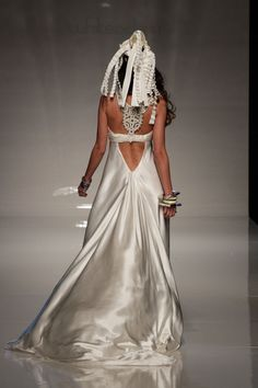 Minus the head dress, this #wedding #dress is outrageously cool!