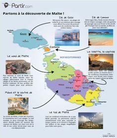 Carte des régions MALTE