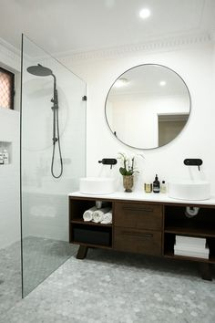 17 stunning bathroom tile ideas 15 simply chic bathroom tile design ideas best bathroom shower tile ideas shower tiling the shower tiling is simple and classic Best Bathroom Tiles, Marble Bathroom Floor, Bathroom Tile Designs, Bathroom Flooring, Bathroom Ideas, Tile Floor, Master Bathroom, White Bathroom, Shower Bathroom