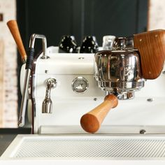 Ninety Plus Custom Slayer Espresso Machine: A rare collaboration creates a professional shot-puller clad in black cherry wood and oxblood leather