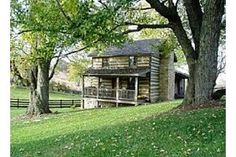 Fair Light Cabin is a recently restored pre-Civil War log cabin in a relaxed country setting. Modern conveniences plus a stone fireplace with wood provided. The cabin is conveniently located just 2 miles off of and Raphine, VA. Modern Log Cabins, Old Cabins, Log Cabin Homes, Cabins And Cottages, Cabins In The Woods, Cabin Lighting, Little Cabin, Mountain Living, Cabin Design