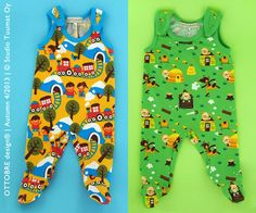 Retro versions of the baby romper  Our readers have for long requested a pattern for a classic footed romper, and here it is. These rompers ...
