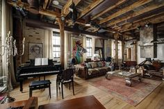 An industrial style loft apartment comprised of 130 square meters of living space was designed by interior designer Lev Lugovskoy, sited in Moscow, Russia. Industrial Apartment, Industrial House, Industrial Interiors, Industrial Style, Industrial Design, Industrial Decorating, Urban Industrial, Industrial Furniture, Vintage Industrial