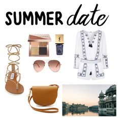 """Untitled #22"" by weera-1418 ❤ liked on Polyvore featuring Denim & Supply by Ralph Lauren, Steve Madden, Yves Saint Laurent, Sophie Hulme, Bobbi Brown Cosmetics and Summer"