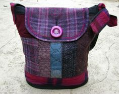 Purses made from felted repurposed wool by Lydia Dierwechter
