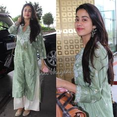 trendy ideas for womens fashion casual dresses celebrity street styles Ethnic Outfits, Indian Outfits, Fashion Outfits, Women's Fashion, Diwali Dresses, Pakistani Dresses, Indian Dresses, Lucknowi Kurta, Casual Indian Fashion