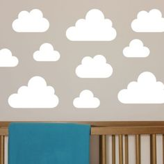 White / Small cloud wall stickers