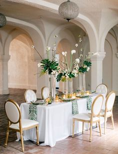 Modern Art Deco Inspiration --- what a lovely table setting. OMg!