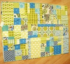 Pretty blue and green quilt