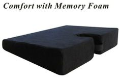 """Large Medium-FIRM Wellness Seat Cushion (Size: 18"""" x 14"""" x 1-3/4"""" to 3-1/2"""". Color: Black) by TravelMate(R). $19.85. Large size: 18"""" x 14"""" x 1-3/4"""" to 3-1/2"""", Color: Black. Fits most bucket seats. Features zippered, machine-washable cover with built-in carry handle. Cutout section suspends the tailbone, providing relief for the coccyx/tailbone area. The combination of a layer of memory foam on top of a furniture-graded foam provides enhanced comfort and durability. This ..."""
