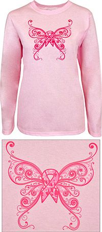Butterfly Love Pink Ribbon Tee at The Breast Cancer Site