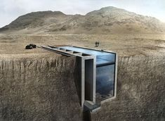 Subterranean Cliff Houses - Open Platform for Architecture's Casa Brutale is a Striking Glass Home (GALLERY)