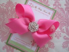 Girl hair clips  pink hair bows  girl barrettes by mybabysweetpea, $6.25