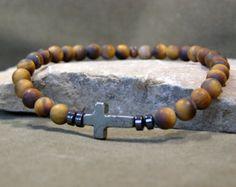 Mens Beaded Bracelet Bracelet for Men Jasper par StoneWearDesigns