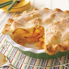 Easy International Recipes: Deep-Dish Peach Pie