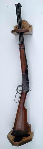 Wood Gun RacksOak Rifle Rack (pictured below with and without guns) PROAK -Oak Rifle Rack (for 3 guns) Dimensions 24″ H x 23′ W x 4 1/2″ D Price: $87.63 Qty: Three Gun Oak Wall Rack with Rail Dimensions: 24″ H x 23″W x 4 1/2″ D. Three Gun Rack with Rail/Shelf Price: $97.95 Qty: …