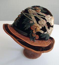 Superb Velvet Hat w/ Ornate Design.