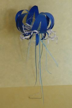 Blue Flower with dangles
