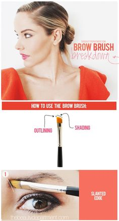 Want gorgeous brows? Let's make sure you're not mistakenly using your brow brush incorrectly! Click through to see the step-by-step printable tutorial!