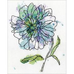 Beautiful designs and top quality materials make Tobin one of the top cross stitch kit makers worldwide. This package contains 14-count white Aida cloth, embroidery floss, one needle and instructions. Design: Blue Floral. Finished size: 7x9 inches. Size: 8 inchX10 inch 14 Count.