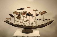 Decorations : Metal Sculpture Lotus Pond Hotel Decoration With Home Decor Ornament Also Artwork A Bold Statement Of One's Character Instead Of Kitchen. Room Decoration Games Online A Neutral-toned Cozy Living Room. Decor Crafts, Home Crafts, Diy Home Decor, Arts And Crafts, Diy Crafts, Urban Threads, Metal Crafts, Paper Crafts, Farming