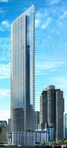 Ten York Condos Tower, Toronto by Wallman Architects :: 65 floors, height 234m