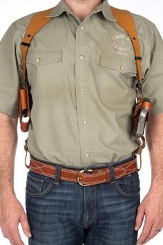 The leather shoulder holster simply called the SSR that will change your comfort and ease of carry for the shoulder holster fan's. The Best shoulder hols. Ccw Holsters, Custom Holsters, Concealed Carry Holsters, 1911 Leather Holster, 1911 Holster, Inside The Waistband Holster, Leather Cell Phone Cases, Tactical Gear, Leather