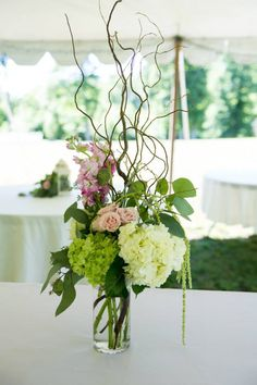 centerpieces with #curlywillow