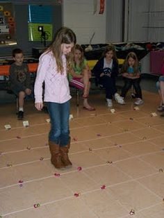 Teaching Coordinate Grids and Ordered Pairs. Our field student, Miss Bertrand, taught a lesson on coordinate grids this week. She taught the students to walk across the grid and then up the grid to get a piece of candy they wanted on the grid.  (We wanted to go outside, but it has been raining SO MUCH in PA lately.)