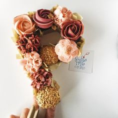 """P""retty Cupcake Monogram  by Sophia Mya Cupcakes (Nanvah Nina Michael)"