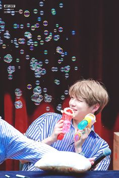 Cute daniel with bubbles