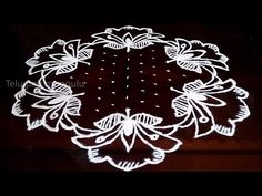 LOTUS kolam with dots II Beautifull lotus kolam II sankranthi muggulu Small Rangoli Design, Rangoli Designs With Dots, Rangoli With Dots, Kolam Designs, Henna Designs, Rangoli Ideas, Kolam Rangoli, Flower Rangoli, Simple Rangoli