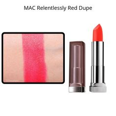 Lipstick dupes 791155859529034903 - MAC Lipstick Dupes – MAC Relentlessly Red Dupe Source by Mac Lipstick Dupes, Mac Dupes, Lipstick Art, Lipstick Colors, Mac Heroine, Lipstick Tricks, Bright Lipstick, Most Popular Mac Lipsticks, Mac Lipsticks