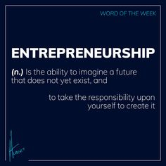 Word of the Week ENTREPRENEURSHIP🙌  (n.) Is the ability to imagine a future that does not yet exist, and to take the responsibility upon yourself to create it.👌  Have you see a future yet that does not exist?🚀  www.albertvanwyk.com 🌍  #wordoftheweek #createit #entrepreneurship #future #responsibility Monday Quotes, Keynote Speakers, Have You Seen, Entrepreneurship, No Response, Author, Future, Create, Words