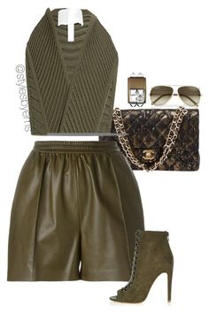 Untitled #507 by emsdash on Polyvore featuring polyvore fashion style Jonathan Simkhai Givenchy River Island Chanel Hermès clothing