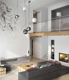 Fresh contemporary living space with minimalist tones in Ukraine