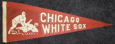 1940's Chicago White Sox Pennant with sliding by AntiqueSportsShop